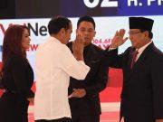 Capres nomor urut 01 Joko Widodo dan Capres nomor urut 02 Prabowo Subianto
