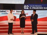 Capres nomor urut 01 Joko Widodo dan capres nomor urut 02 Prabowo Subianto di lokasi acara debat capres kedua