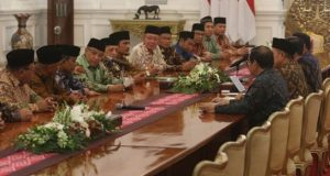 Jokowi terima LPOI di istana.