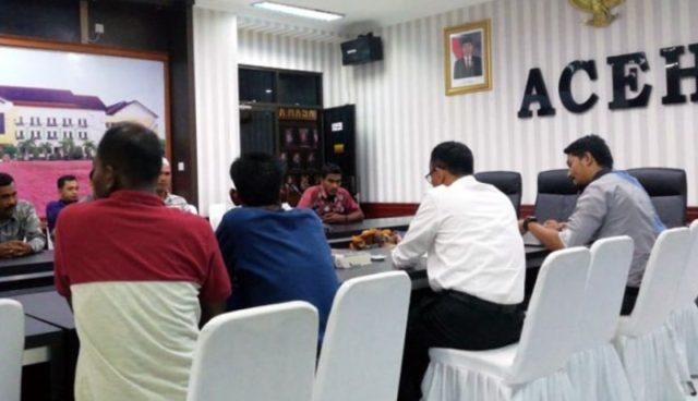 Para mantan Kombatan GAM melapor ke Polda Aceh terkait isu penggunaan bahan Prabowo di Aceh