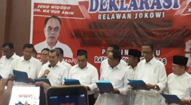 Foto, Deklarasi dukung Jokowi di Riau