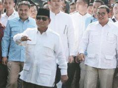 Petinggi BPN berkumpul di rumah Prabowo usai mencoblos pemilu 2019