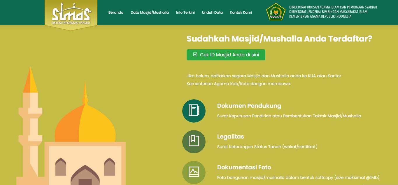 Cara mendaftarkan masjid musala ke dalam SIMAS 4