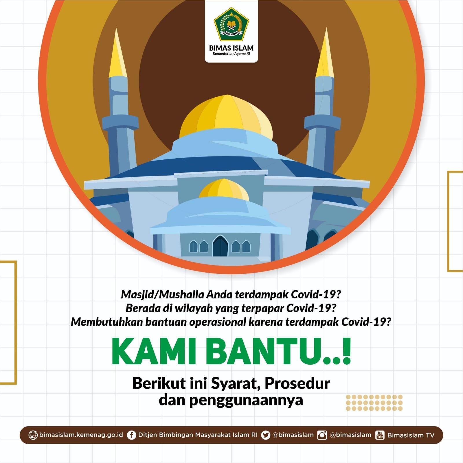 Syarat Masjid Musala Dapatkan Bantuan Bimas Islam