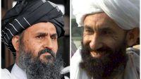 Kolase foto Mullah Baradar dan Mullah Hassan Akhund. (News Unzip dan The Economist)