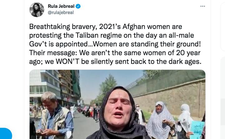 Wanita Afganistan Lakukan Demo Tuntut Haknya Kami Tidak Sama seperti 20 Tahun Lalu